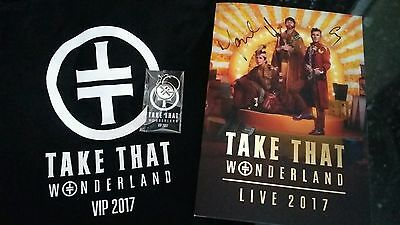 Take That Wonderland Tour Programme Signed and VIP bag