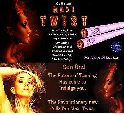 24x COLLATAN EXCLUSIVE TWIST SUNBED TANNING & SKIN REJUVENATION LAMPS TUBES 180w