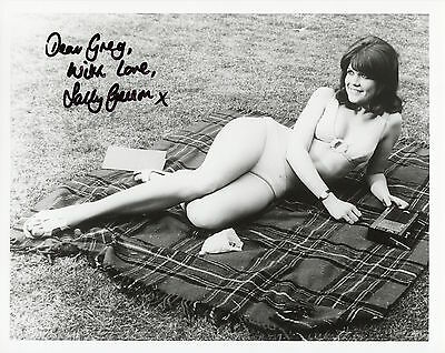 Carry On Actress - Original autographed photo Sally Geeson 8x10