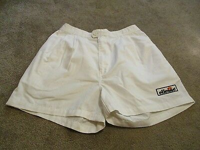 Mens Excellent Condition Ellesse Tennis Sports Or Track Shorts Cotton Size 30""