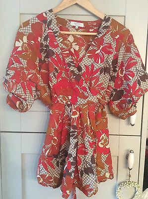 Ladies multi coloured floral maternity blouse size 14 Mamas and Papas