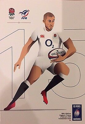 NEW UNREAD ENGLAND v FRANCE RUGBY UNION SIX NATIONS 2017 4th FEBRUARY TWICKENHAM