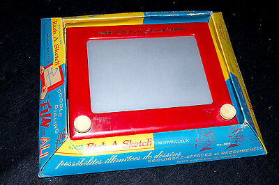 Vintage Boxed Etch A Sketch - #505 - Original English and French Packaging