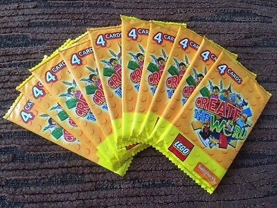 50 x Unopened Lego Create The World Trading Cards from Sainsburys