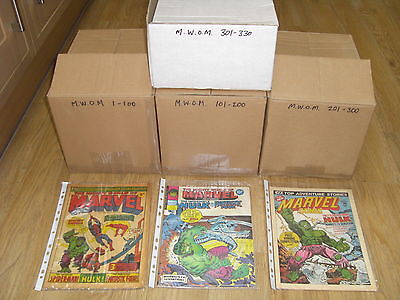 MIGHTY WORLD OF MARVEL - COMPLETE SET + Rare MARVEL 'COUPON' POSTER - 1970's !!!