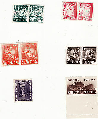 South Africa - 1941-46 War Effort Small Selection 4 Pairs + 2 Singles Um/mm