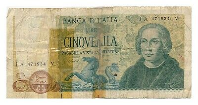 ITALY banknote 5000 LIRE 1977.