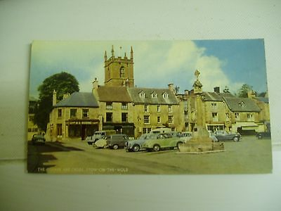 old postcard of stow on the wold