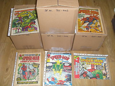 SPIDERMAN WEEKLY - COMPLETE SET + Rare SPIDERMAN 'COUPON' POSTER - 1970's !!!
