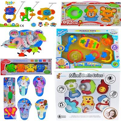 3 pcs Baby Activity Toys and Rattles for Girl & Boy 0M+ Lovely Gift Set