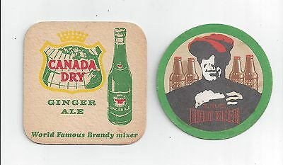 Lot Of Two Diff. Older Soda Advertising Company Drink Pop Ale Bar Mat Coaster