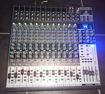 Behringer XENYX 2442 FX mixing desk with usb interface and rack mounts included