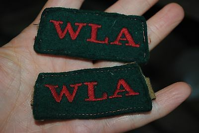 WLA Womens land army tabs