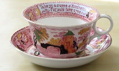 ROYAL STAFFORDSHIRE POTTERY Giant -  AULD LANG SYNE -  CUP & SAUCER