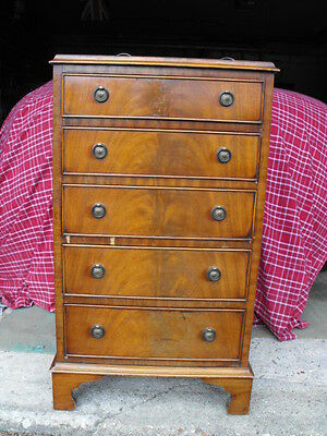 Small chest of drawers reproduction walnut