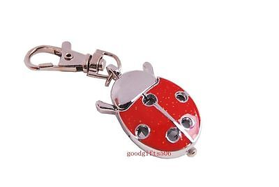 New Cute Ladybug hole boys girls ladies Children Key Ring Chain watch gift DK74