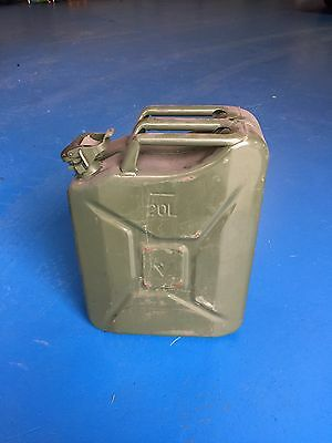 20 Litre Metal Jerry Fuel Can - Green