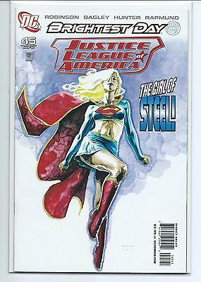 JUSTICE LEAGUE of AMERICA # 45 DAVID MACK SUPERGIRL VARIANT NM+ LOW PRINT RUN