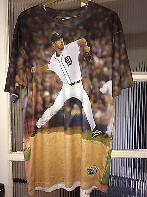 Three60 Gear MLB Detroit Tigers Justin Verlander Full Graphic Jersey Size Large
