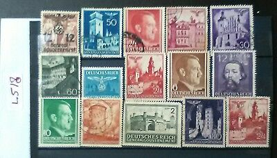 German Ww2 Stamps ,general Government, Original, 1939 /45