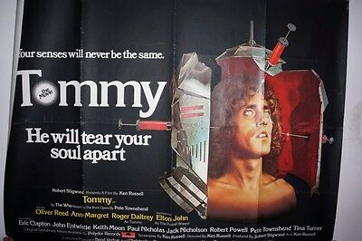 "The Who Tommy Original Quad 1975 Poster In Good Condition 40""x30"""