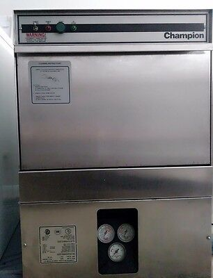 Champion U-HB Commercial High temp under counter Ddishwasher w/high temp booster