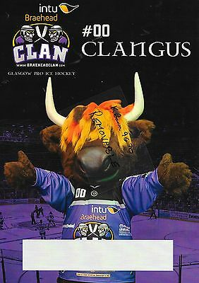 Ice Hockey Poster BRAEHEAD CLAN - A4 size #00 the world famous CLANGUS REDUCED *