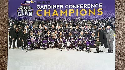Ice Hockey Poster -BRAEHEAD CLAN TEAM A4 POSTER - 2016/17,** REDUCED**