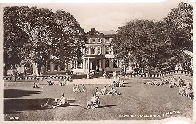 Lovely Old Real Photo Postcard - Sewerby Hall - Bridlington - Yorkshire 1950