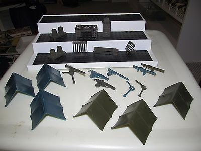 Vintage Marx Armed Forces Training Center Playset Hard Plastic Accessories Lot