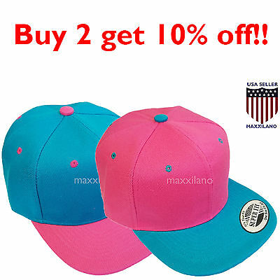 bc4e519a8eb Mens Baseball Cap Trucker Snapback Hat Adjustable Flat Bill Classic Hip Hop  New