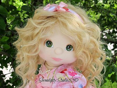 Lovely Custom OOAK My Child Doll-with Blond Sewn-in Wavy Mohair