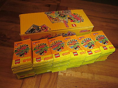 Lego Trading Cards 300 X Sealed Packets+Trade Box (1200 Cards). Create The World