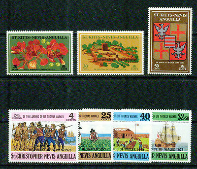 St.kitts-Nevis  -1971-1973 – Small Collection -Vf**