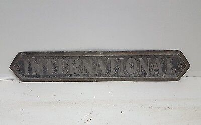 Vintage International Harvester Tin Metal Sign Nameplate