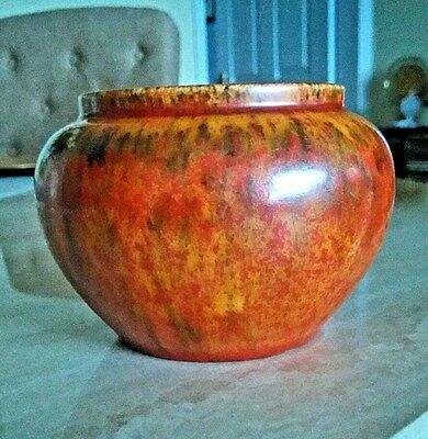 PILKINGTON'S Royal Lancastrian Pottery Small Bowl Orange Lustre Glaze 2172