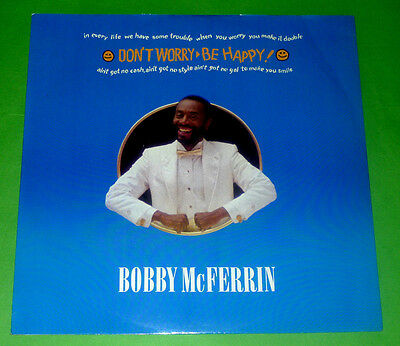 "BOBBY McFERRIN 12"" EP DON'T WORRY BE HAPPY 1988 VG+ 12MT56"