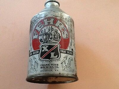 Beer Tin Fehr's Cone Top
