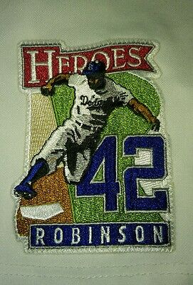 Jackie Robinson HEROES LA Dodgers Authentic MLB Baseball Patch