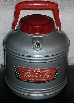 Vintage Old Knapp & monarch Therm a Jug water cooler thermos K&M