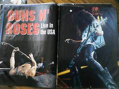 Original Guns N Roses Live 1991-92 Article & Pictures Poster from Mag