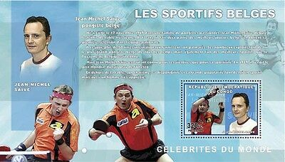 Table Tennis Masters Jean-Michel Saive s/s Congo DR 2006 MNH Yv.1700 #CDR0605b