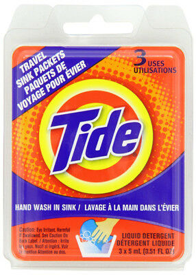 TIDE - Sink Pack Liquid Laundry Detergent - 3 x 3 ml Packets