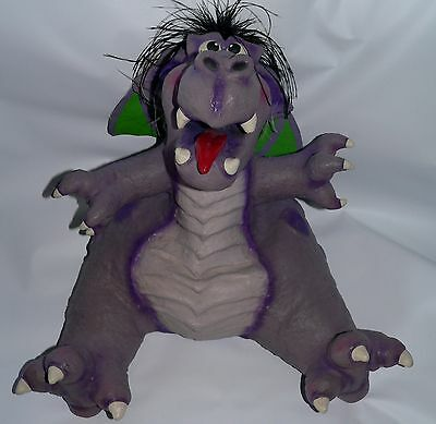 Professional full body Dragon puppet ventriloquist artist signed monster stage