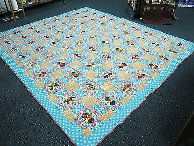 Authentic Amish Handmade Lg. King Quilt, 105x115, Signed/Dated, Chili, Wisconsin