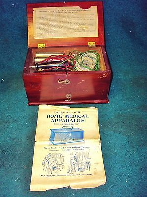 Vintage 1800's J.H. Bunnell New No 4 Home Medical Apparatus, Medical Quackery