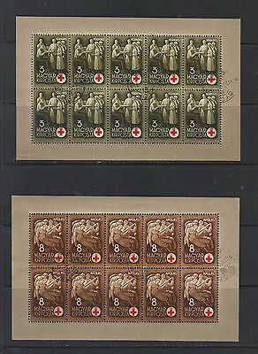 stamps Hungary 1942 B144-147 in sheets . high CV see 2 scans