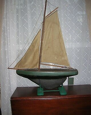 Very Unusual vintage late 19th C. or early 20th C. pond boat