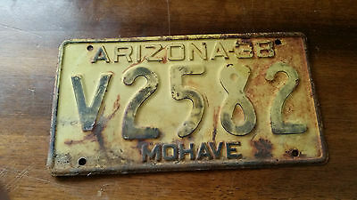 1938 Arizona License Plate Mohave