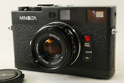 TOP MINT! Minolta CLE SLR 35mm Rangefinder with M Rokkor 40mm F2 From JAPAN #225